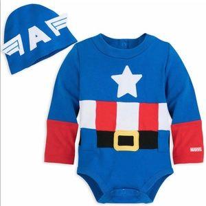 Disney Captain America Baby Bodysuit Avengers